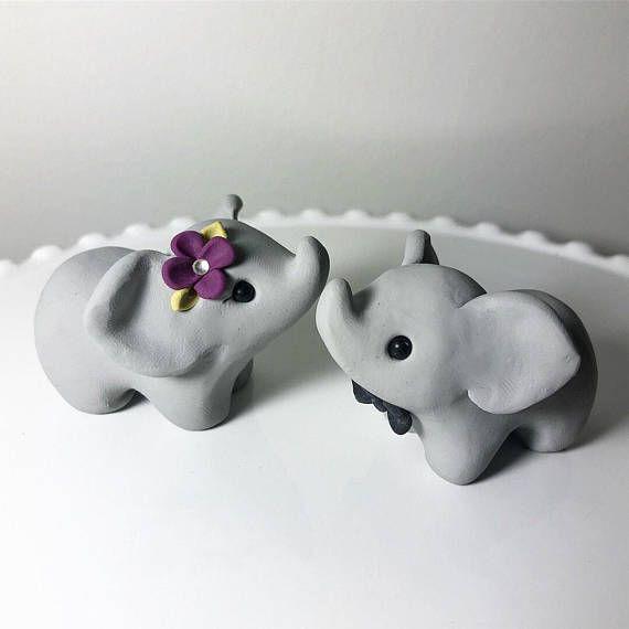 Handmade Elephant Wedding Cake Topper Wedding Cake Toppers Elephant Wedding Elephant Cake Toppers