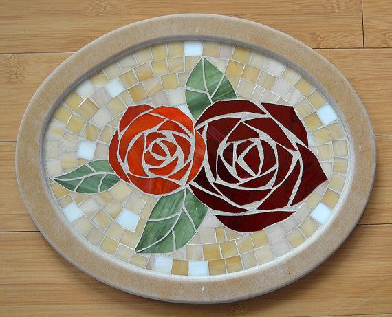gothic t shirt Handmade Glass Mosaic Serving Tray by NYMosaicArt on Etsy   68 00
