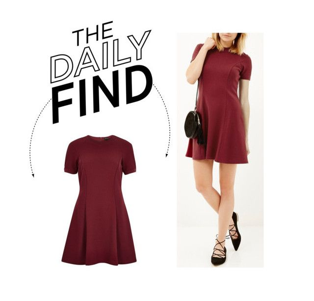"""""""Daily Find: River Island Skater Dress"""" by polyvore-editorial ❤ liked on Polyvore featuring River Island and DailyFind"""