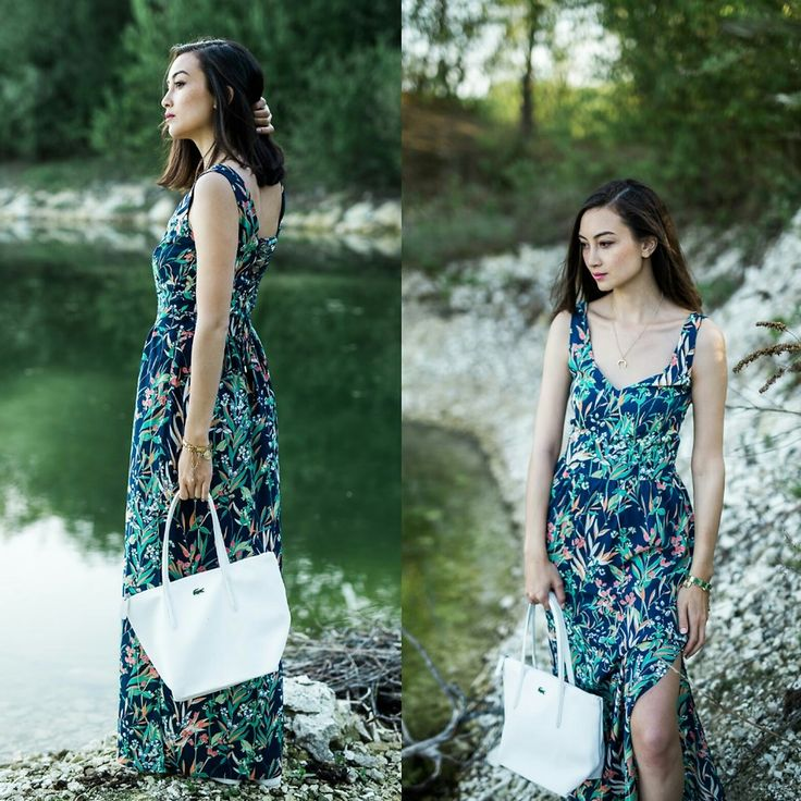 French Style    #floral #nature #dress #summer #lake #ootd #comfortable #fashion #photo