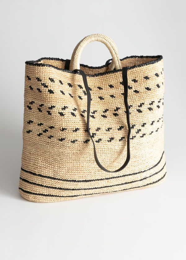 f4e086375 Graphic Straw Tote Bag from & Other Stories - the perfect beach bag ...