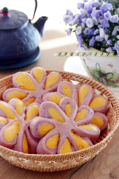 Pumpkin Amp Purple Yam Mantou Steamed Bun Taiwanese Food