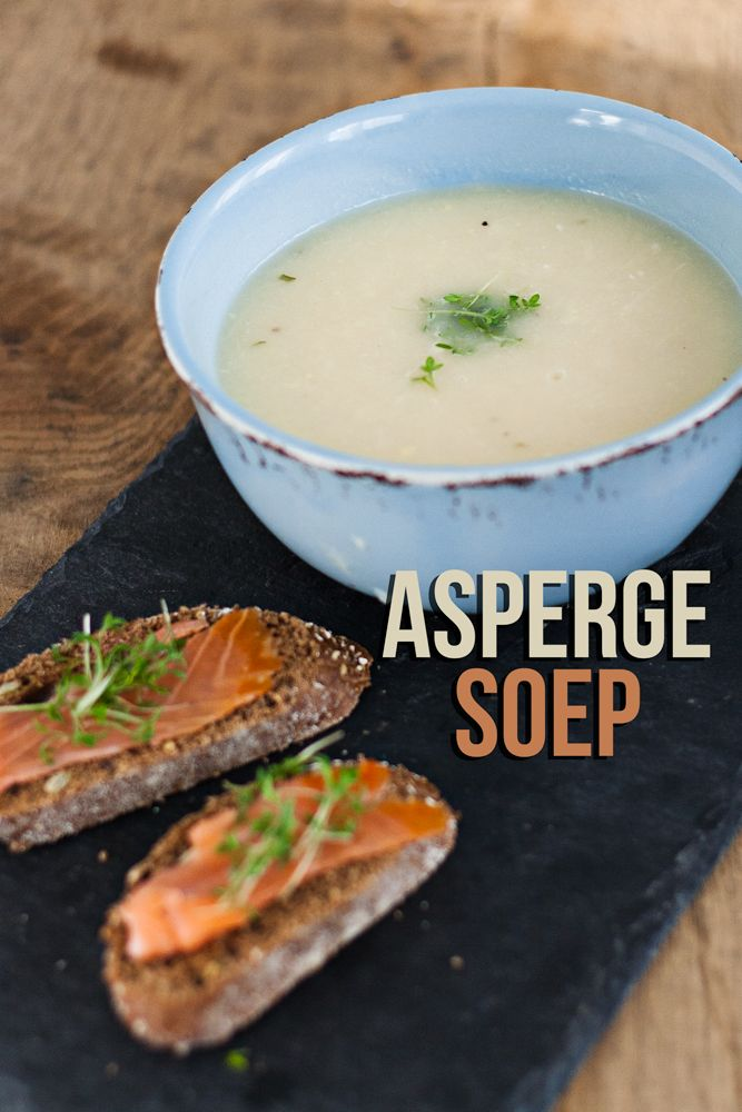 Aspergesoep met zalm toastjes - The answer is food