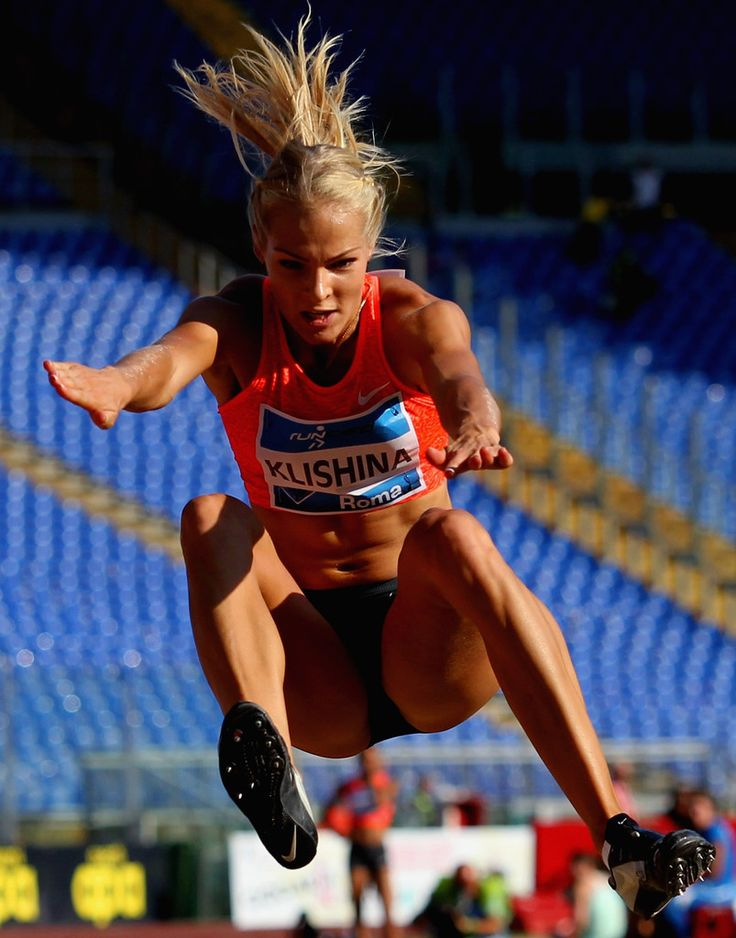 Darya Klishina of Russia competes in the women's long jump during the IAAF Golden Gala at Stadio Olimpico on June 4, 2015 in Rome, Italy.
