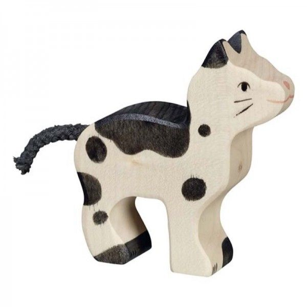 Holztiger Wooden Animal Black & White Cat Canada