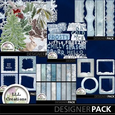 Frosty Bundle by LLL Creations. #scrapbooking #digitalscrapbooking #frosty #winter #digiscrap #LLLCreations