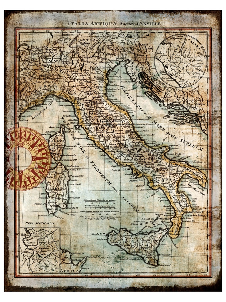 Antique Map of Italy 357 best Old