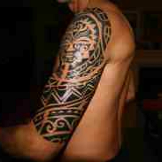 Sick ass aztec tribal sleeve sick tats pinterest for Sick tattoo sleeves