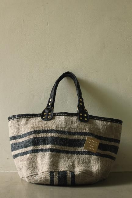 Antique German Grain Sack Tote Bag - IRRE