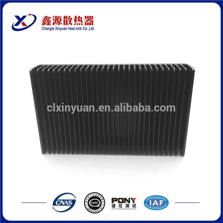 Chinese supplier large aluminum inverter black heat sink / radiator for sale