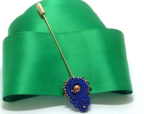 Stylish Hijab soutache pin dangle soutache by AGDesignCreatif