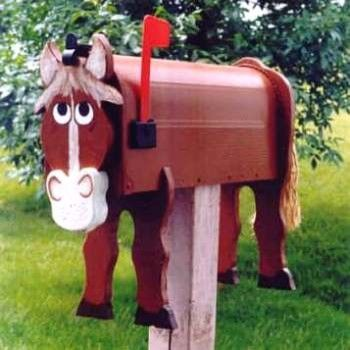 decorative horse mailboxes modern mailboxes - Decorative Mailboxes