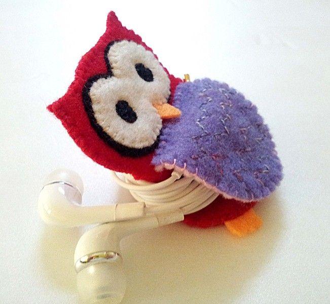 Owl+Earphones+Winder+from+littlecrafttage+by+DaWanda.com