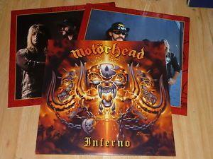 MOTORHEAD - Inferno - GERMAN 2 x VINYL LP's  LYRIC INNERS - STEAMHAMMER