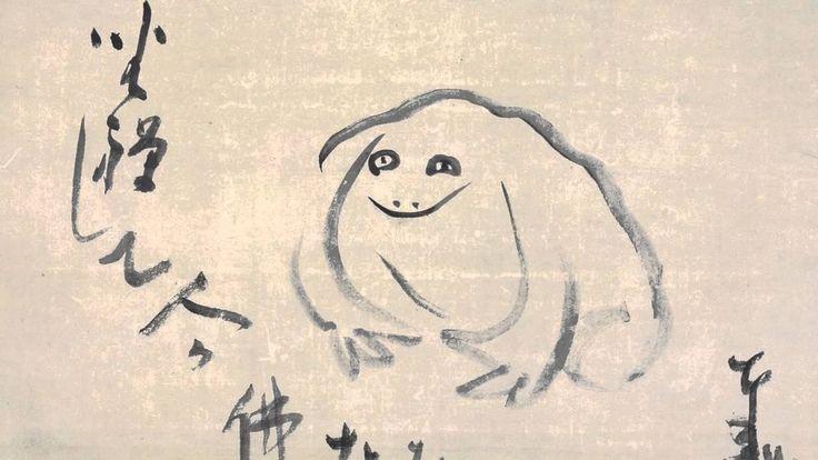 HAIKyou  Mangio la vita / Da rana di passaggio:/ Mordo, assaggio. // (BaoTzeBao, 26.05.2016 - 11.34 - Kontowood)  ( particolare di disegno haiku del Maestro Sensai )