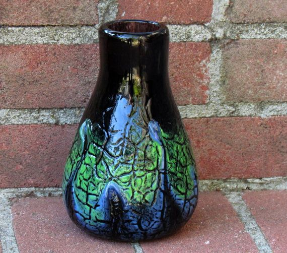 Large Decorative Wire Wrapped Glass Vase