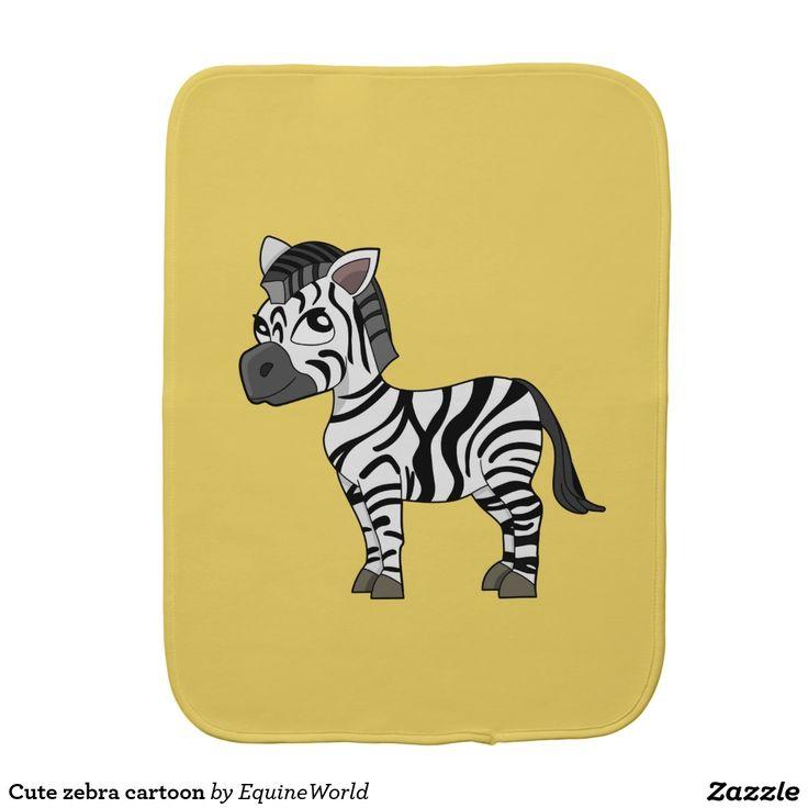 Cute zebra cartoon burp cloths