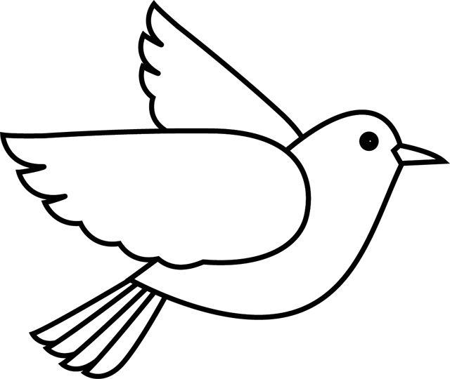 Coloriage, l'oiseau
