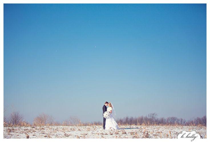 winter wedding | big blue sky