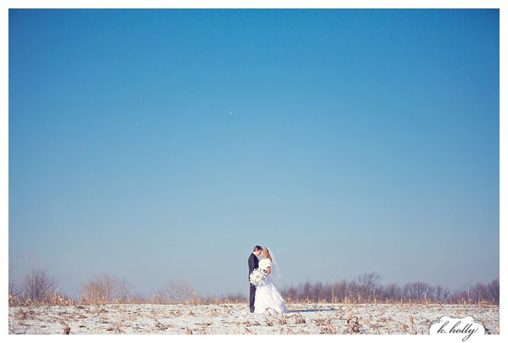 winter wedding | big blue sky