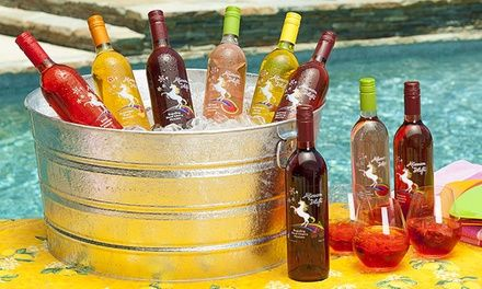 Each fruit-flavored Moscato contains only 37.5 calories per glass, making for a guilt-free indulgence; includes stemless govino wine glasses