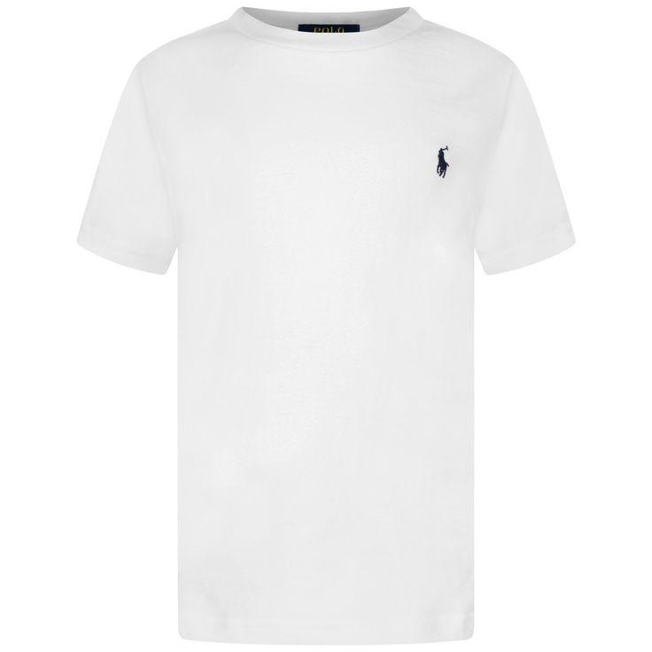 Ralph Lauren Boys White Short Sleeve Jersey Top