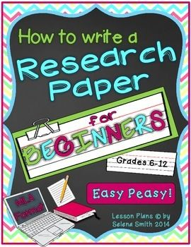Research Paper for beginners makes the research process so much easier!  ELA grades 6-12.