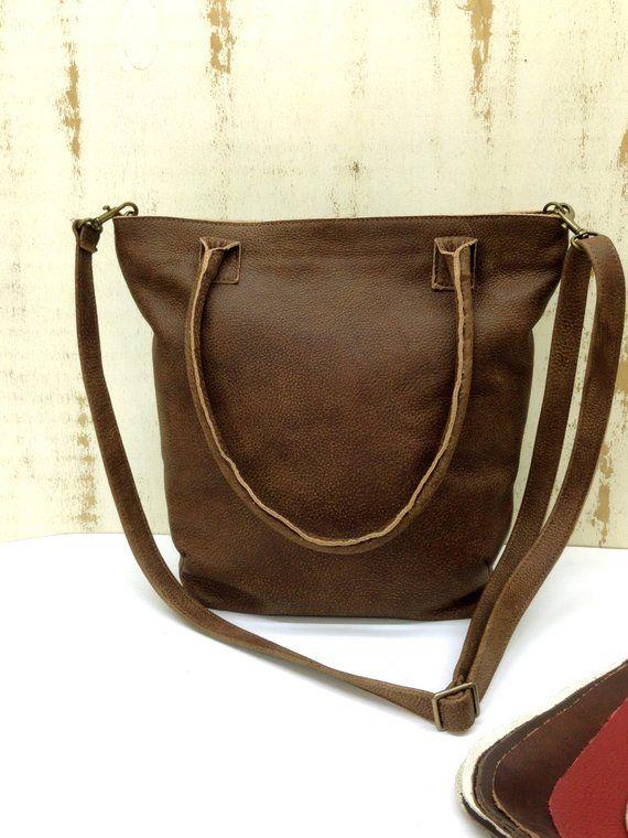 c46d651bde SALE!!! Everyday leather handbag crossbody Leather zippered tote zippered  crossbody bag distressed
