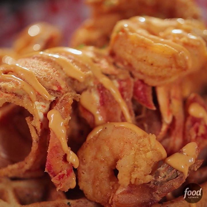 Florida Deep-Fried Lobster with Waffles, as seen on Diners, Drive-Ins, and Dives… | Fun Clips and Quizzes
