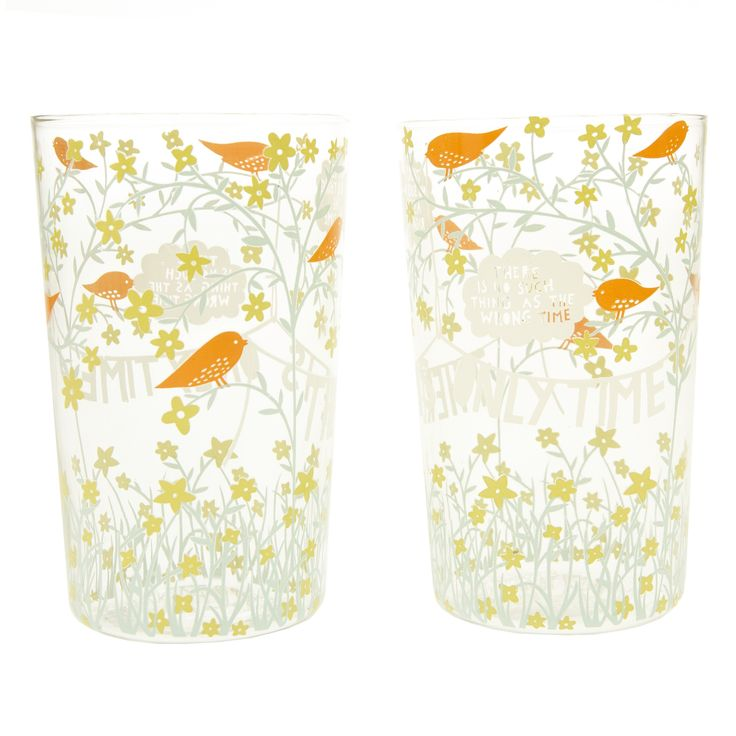 Rob Ryan - Only Time 2 Large Glasses - In the Kitchen - Design Led Gifts - Photo & Gift - Fred Aldous