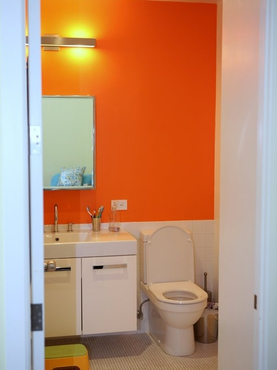 17 best ideas about orange bathrooms on pinterest orange for Toilet decor pictures
