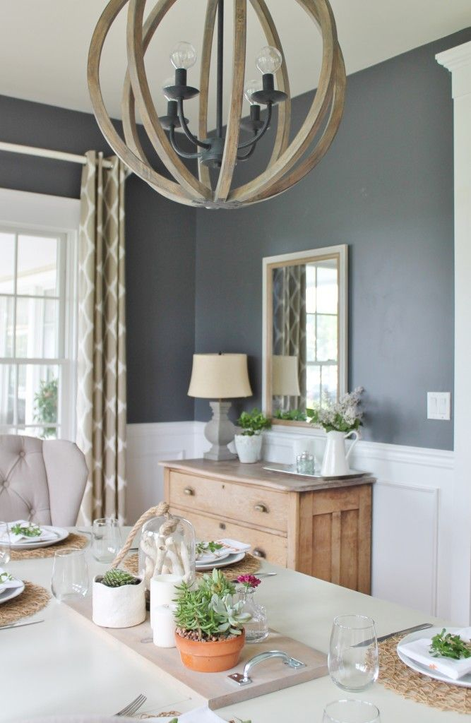 Summer Tour Dining Room Reveal DIY Centerpiece