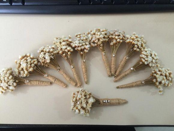 Lapela rústica para noivos e padrinhos