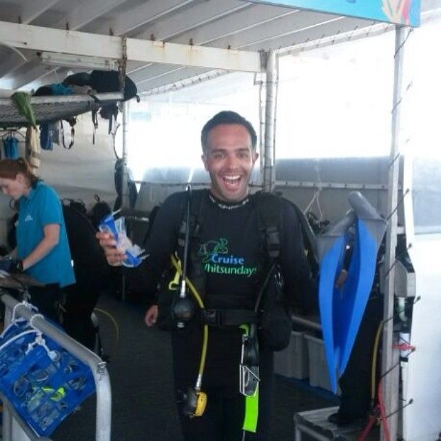 Couldn't have asked for a better location for my first scuba dive. #greatbarrierreef #scuba #happy #reefworld