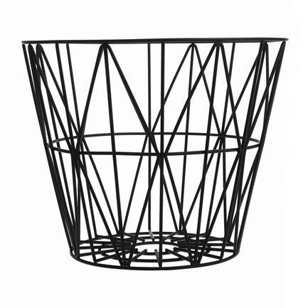 Wire Basket, small, black