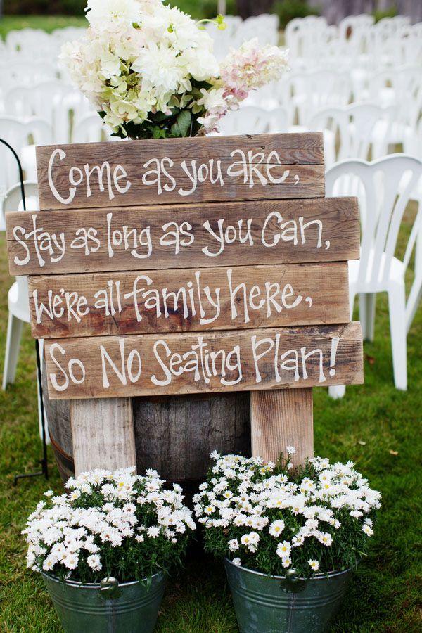 Rustic & cute wedding ideas.
