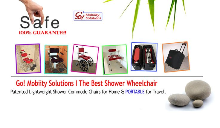 Buy portable Commode Shower wheelchair, Rolling or Folding shower chairs for disabled persons from GMS! for home and easy travel.   We offer Risk-Free 30-day trial, and No chargeuntil we ship! Checkout all our Shower Wheelchair models today. Plus Special offer!  Call: 800.359.4021  E-mail: Sales@GoesAnywhere.com