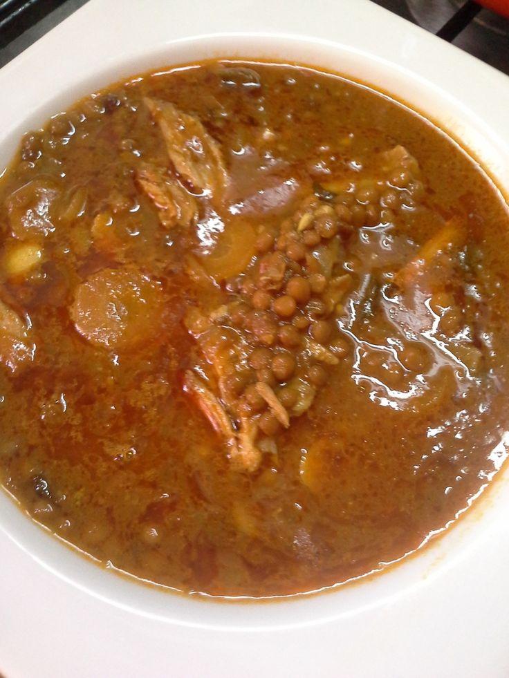 Soupe de lentilles au poulet More