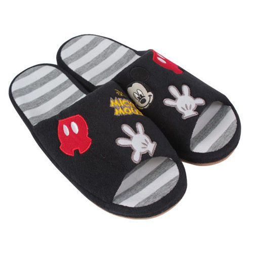 Cute Disney Mickey Mouse House Indoor Slippers Home Sheos Black Free One Size