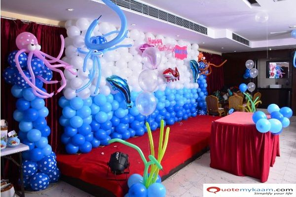 Party Hall Decoration In 2020 Birthday Party Planning Birthday Parties Surprise Birthday Party Decorations