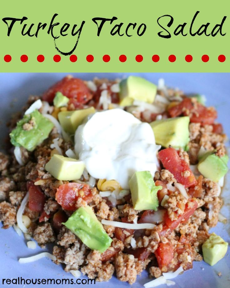 Turkey Taco Salad | Real Housemoms | Quick and easy dinner perfect for busy nights