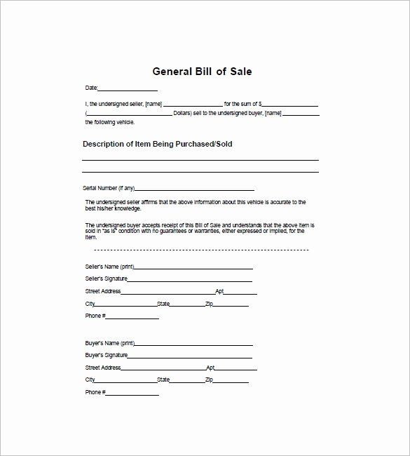 Generic Bill Of Sale Form Printable Lovely 12 Dirt Bike Bill Of Sale Bills Bill Of Sale Template Schedule Template