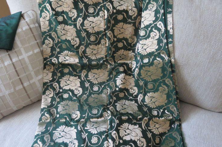 Green Benarasi silk Saree, Wedding saree, Green Sari by ZainabBoutique on Etsy