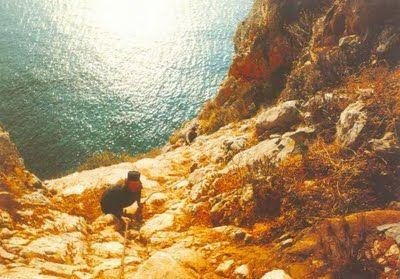 Camí de l'ermita, al Mont Athos