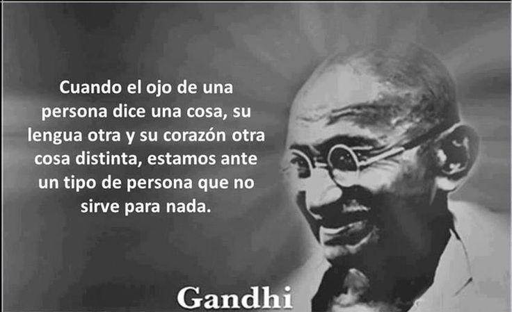 Frases de Gandhi | Gestos de las Personas - Imagenes con Frases, Fotos y Carteles para Compartir