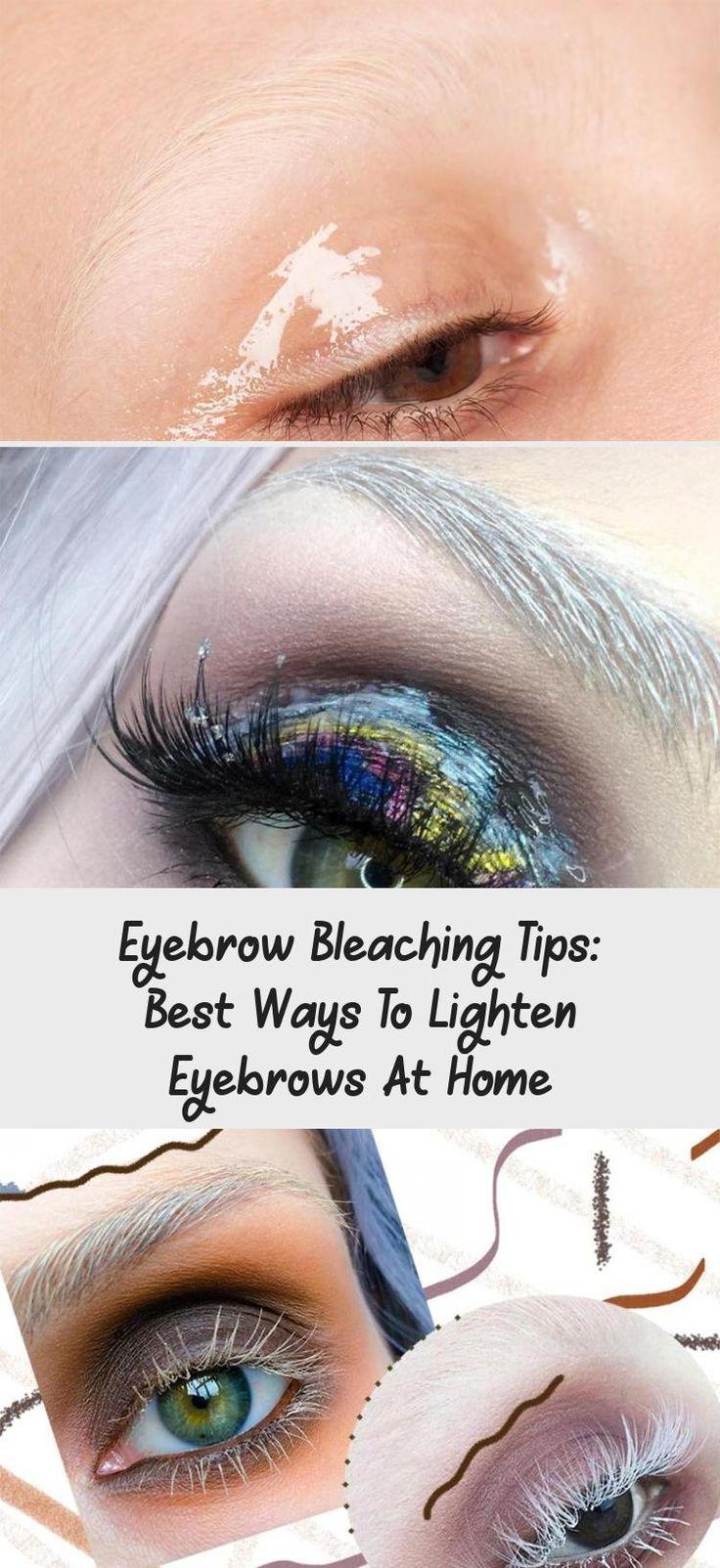 Eyebrow bleaching tips best ways to lighten eyebrows at