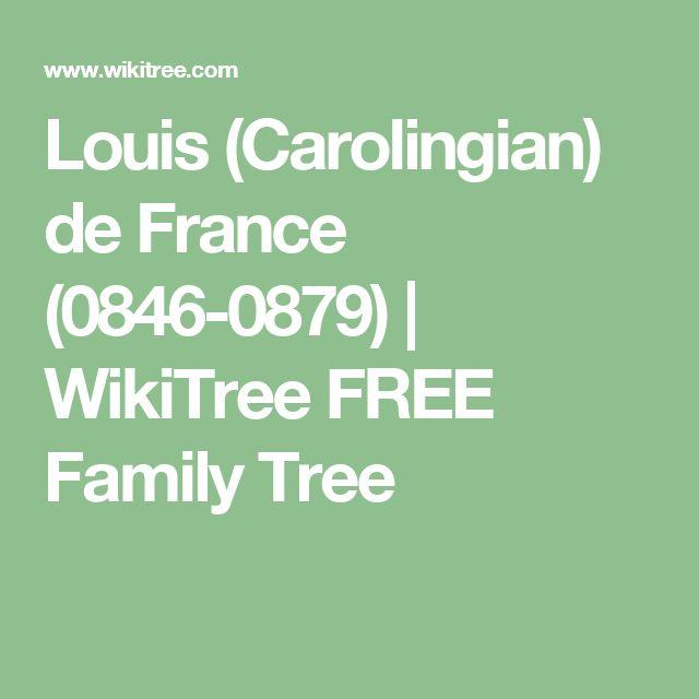 Louis (Carolingian) de France (0846-0879) | WikiTree FREE Family Tree