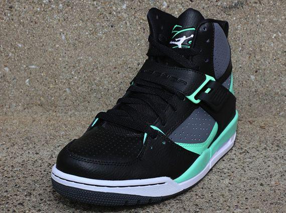 0aead2329 Jordan Flight 45 High - Black - Dark Grey - Green Glow - SneakerNews.com