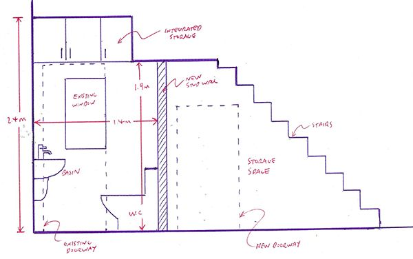 Planning A Downstairs Toilet Under The Stairs With Bathroom Installation In Leeds