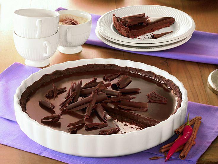 Schokotarte nach Art der Azteken: Ein cremiger Kuchen für Schokoladen-Liebhaber